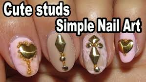 simple nail design cute studs dresslink com fail youtube