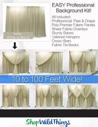 wedding backdrop drapes wedding event backdrop pipe drape fabric shopwildthings