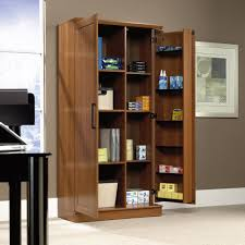 sauder bookcase with glass doors homeplus storage cabinet 411965 sauder