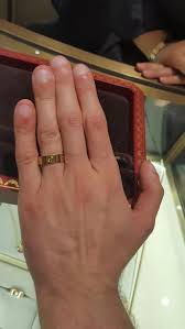 cartier rings man images Fi and i tried on the cartier love wedding bands what do you jpg