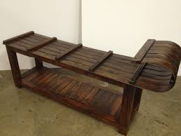 toboggan bench or coffee table vintage winter furniture