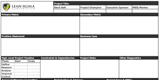 project charter template simple free progress report template