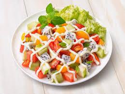 cara membuat salad sayur atau buah resepi salad buah buahan abang brian