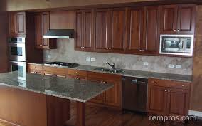 Kitchens With Maple Cabinets Kitchen With Maple Cabinets Granite Countertop Stainless Steel