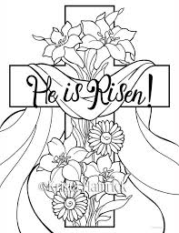 risen 2 easter coloring pages children door