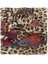 dolce gabbana light blue target dolce gabbana bengal cat print scarf women accessories dolce and