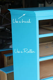 do you use a brush or roller to paint furniture home decorating