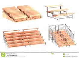 3d render of stadium benches stock illustration image 39893583