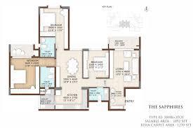 the interlace floor plan ultra luxury apartment for sale in yelahanka main road vajram tiara