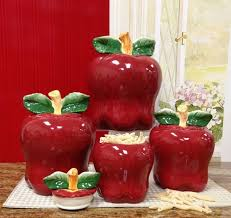 apple canisters for the kitchen kitchen accessories apple ceramic decorative kitchen canisters