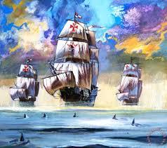 english christopher columbus u0027s fleet painting christopher