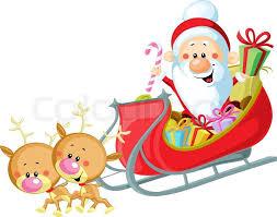 santa sleigh and reindeer santa sleigh and reindeer isolated on white background stock