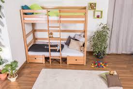 bunk bed children s bed tim solid beech wood convertible in bunk bed children s bed tim solid beech wood convertible in sitting area or two singles incl slatted frame 90 x 200 cm