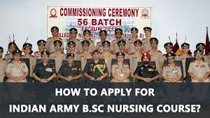 how to apply for indian army b sc nursing course youtube