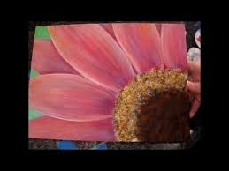 gerbera daisy acrylic painting tutorial for beginners part 1