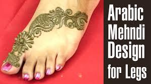 eye catching mehndi design for legs