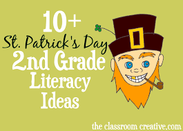 st patrick u0027s day literacy ideas for second grade