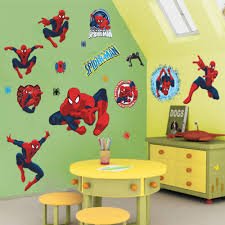 popular spiderman wall decals buy cheap lots movie poster character spiderman wall stickers cartoon decals kids rooms decorations marvel sticker christmas
