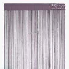 light grey string curtains fringe curtain panel for home