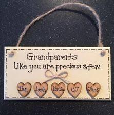grandparent plaques grandparents plaque ebay