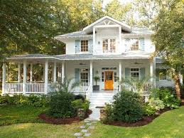 exterior trendy cottage style house and southern cottages house
