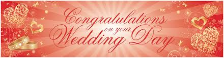 congratulations wedding banner products partymoods