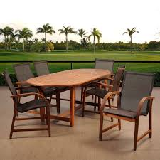 Braddock Heights 7 Piece Patio Dining Set Seats 6 - amazonia indiana 9 piece extendable dining set with sling chairs