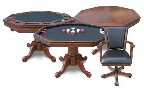 3 in 1 poker and bumper pool table with 4 chairs by harvil