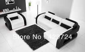 White Sofa Sets Leather Decoration Black And White Leather Sofa Set With White Combination