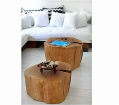 wood stump coffee table wood stump table new diy two tree trunk coffee table on living room