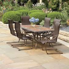 furniture patio set with swivel chairs lowes lawn furniture