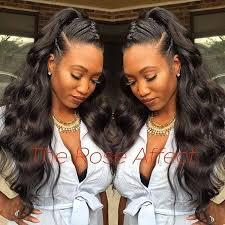 hair braid for a closure 19 best ponytails 3 images on pinterest hair dos african