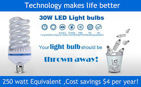 250 watt equivalent led light bulbs ouyide spiral led corn light bulbs 250 watt equivalent 30w daylight