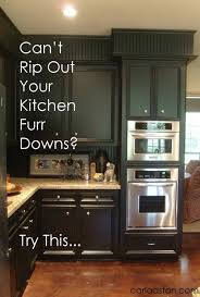 how to paint above kitchen cabinets can t rip out your kitchen s furr downs do this designed