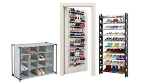 shoe organizer up to 29 off on assorted shoe rack organizers groupon goods