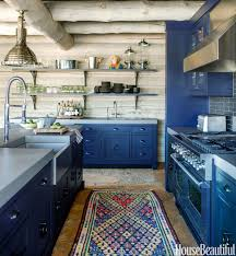 blue kitchen cabinets in cabin 15 best rustic kitchens modern country rustic kitchen