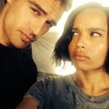 biography theo james photo zoe kravitz shares picture of her and theo james on insurgent set