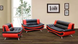 Black And Red Sofa Set Designs F048 S Living Room