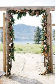 wedding arch kelowna god s mountain wedding kelowna wedding decorating by vintage origami
