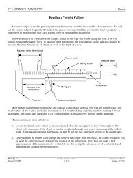 vernier caliper scientific observation mathematics