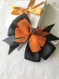 gold hair bow brown hair bow thanksgiving hair bow hair