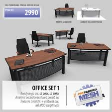 office table and chair set second life marketplace prefabrica office set 1 chair table