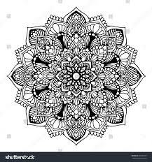 mandalas coloring book decorative round ornaments stock vector