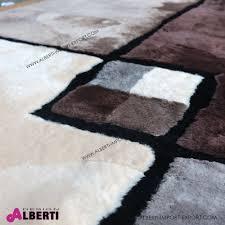 tappeto di mucca tappeto di pelle di pecora rasatacon disegno 240x170 cm