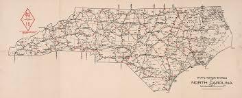 North Carolina Maps North Carolina State Highway System 1922