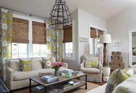 natural linen living room roman shades design ideas