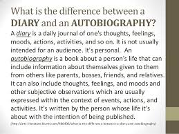biography an autobiography difference an introduction to autobiography and biography
