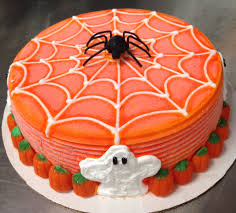 Halloween Pumpkin Cake Ideas Dairy Queen Ice Cream Cake With Spiderweb Ghosts And Candy
