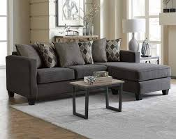 American Freight Living Room Furniture Acme Furniture Vogue Microfiber Reversible Chaise Sectional Sofa