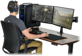 Corner Gaming Computer Desk Great L Shaped Or Standard Gaming Desk Which One Should You Choose